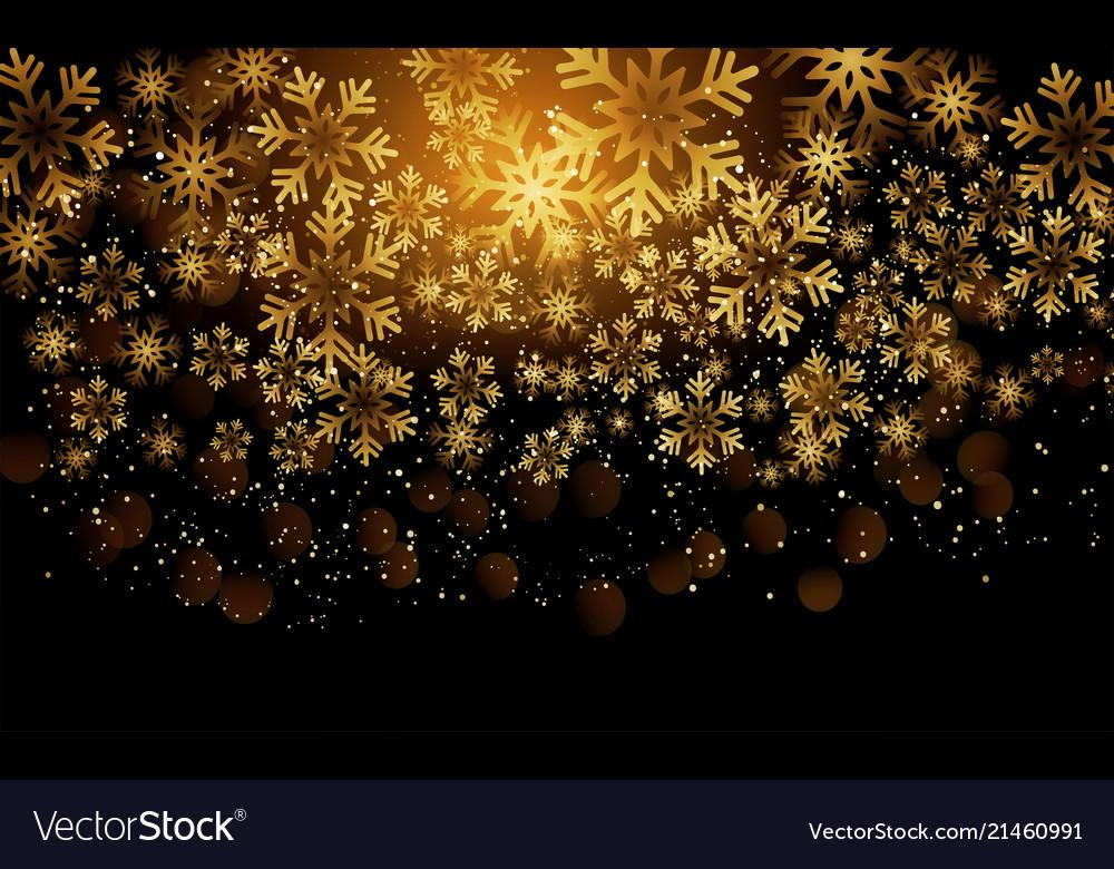 Elegant christmas background with shining gold Vector Image