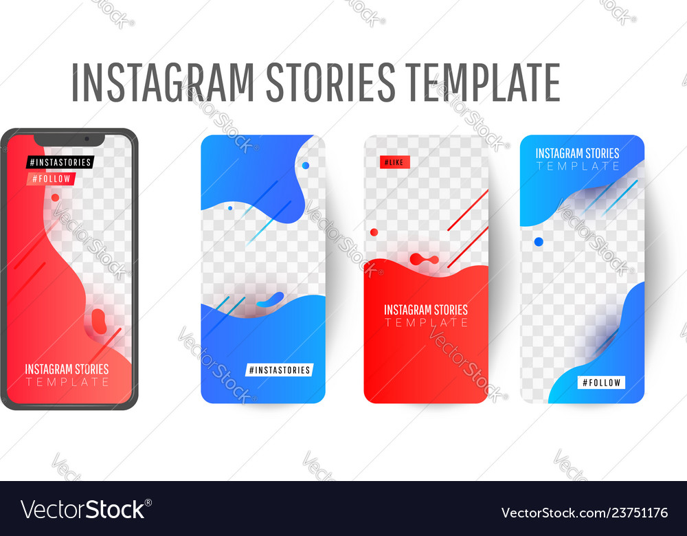 Story template for social media Royalty Free Vector Image