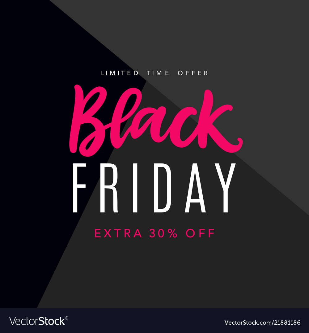 Sale Black Friday Black Friday Sale Web Banner Background Vector Image On Vectorstock