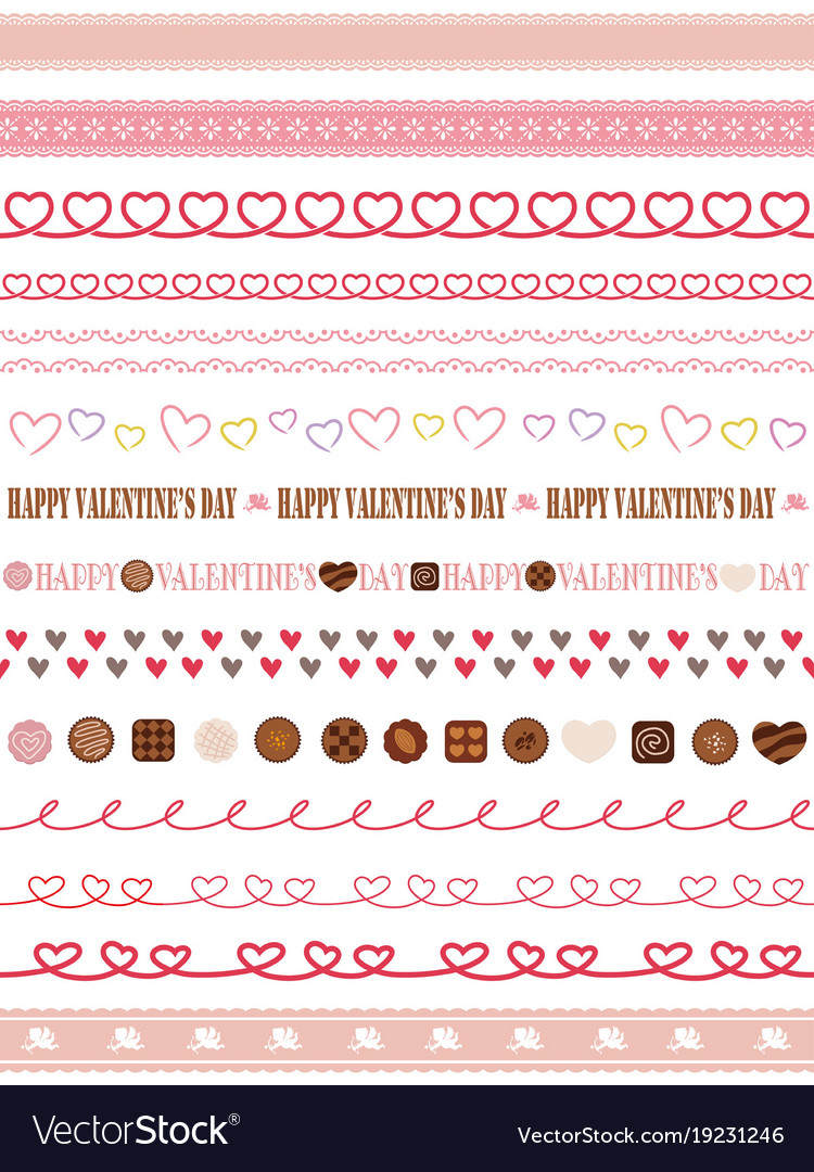 Frantic A Set Valentines Day Vector 19231246 Valentine S Day Borders Free Clip Art Valentine S Day Border Templates Writable Seamless Borders inspiration Valentines Day Borders