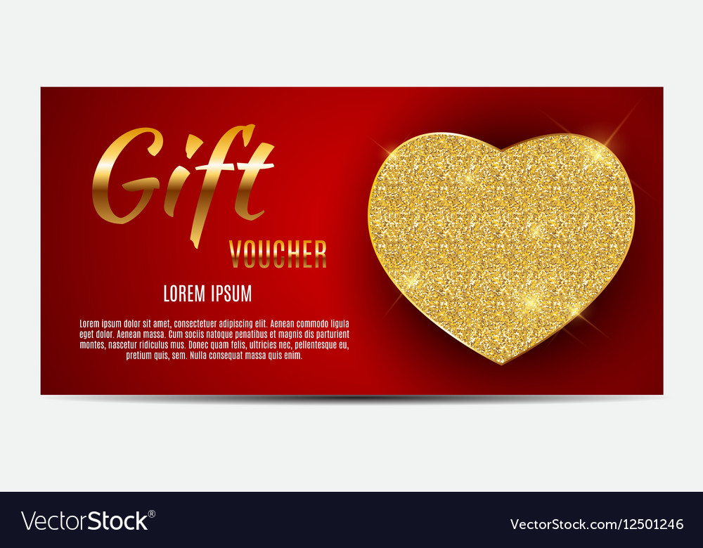 Gift Voucher Template For Your Business Valentine Vector Image - gift voucher template