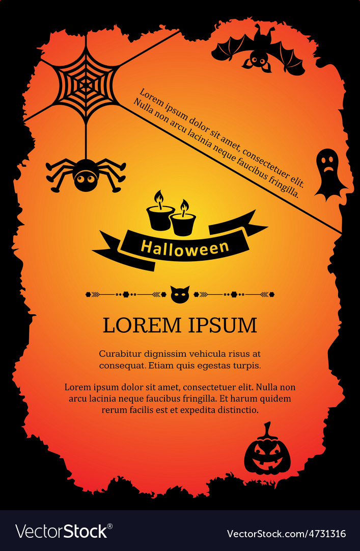 Halloween invitation Royalty Free Vector Image