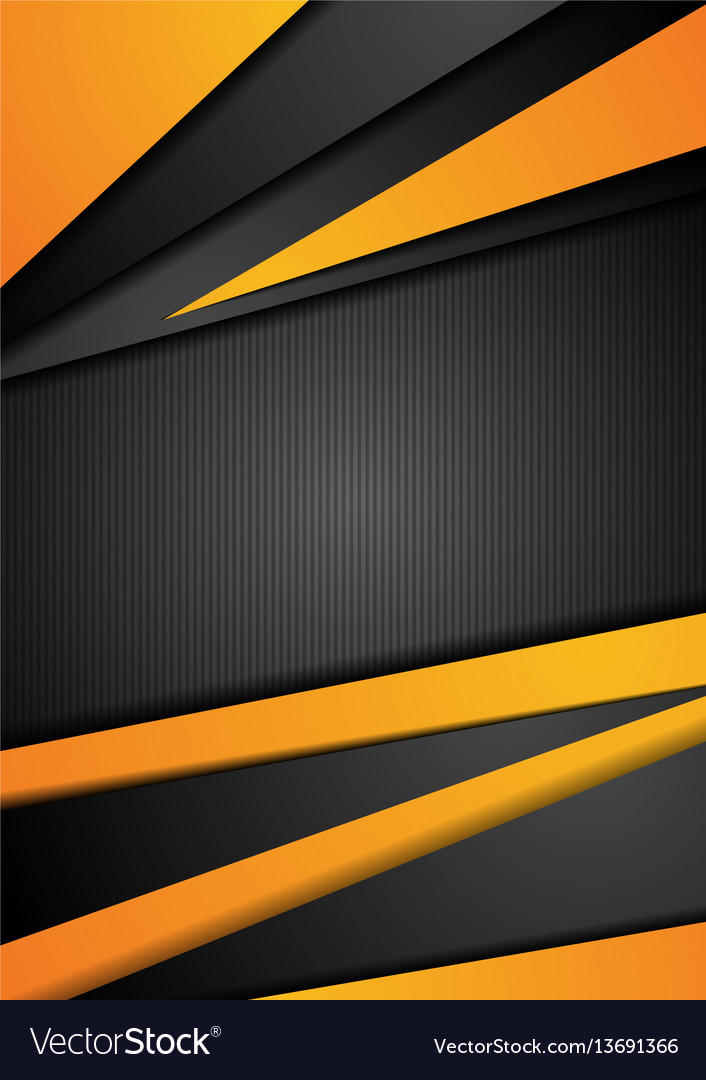 Black and orange tech corporate background Vector Image
