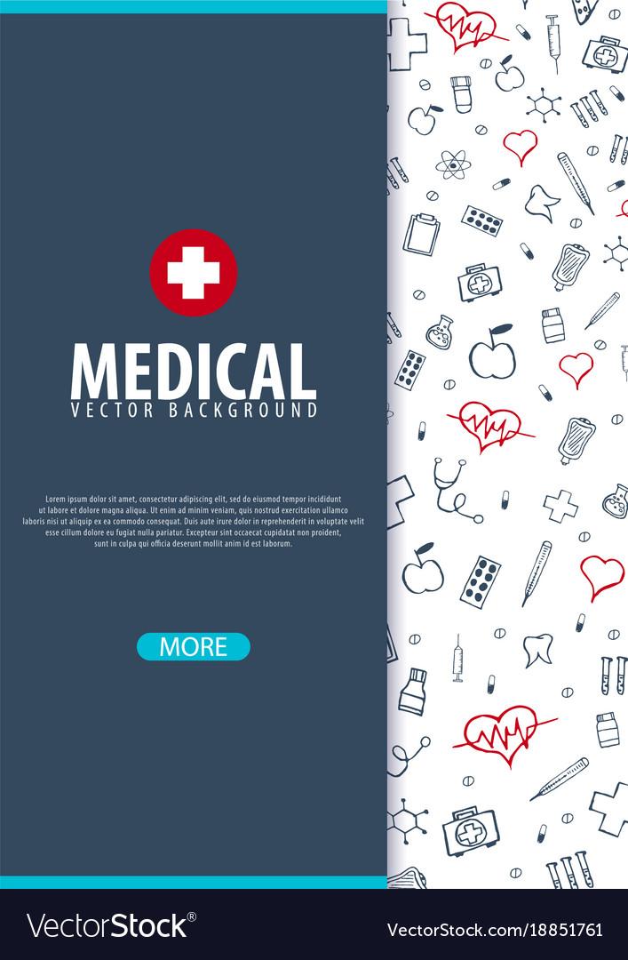 Medical brochure design template flyer with Vector Image - medical brochure