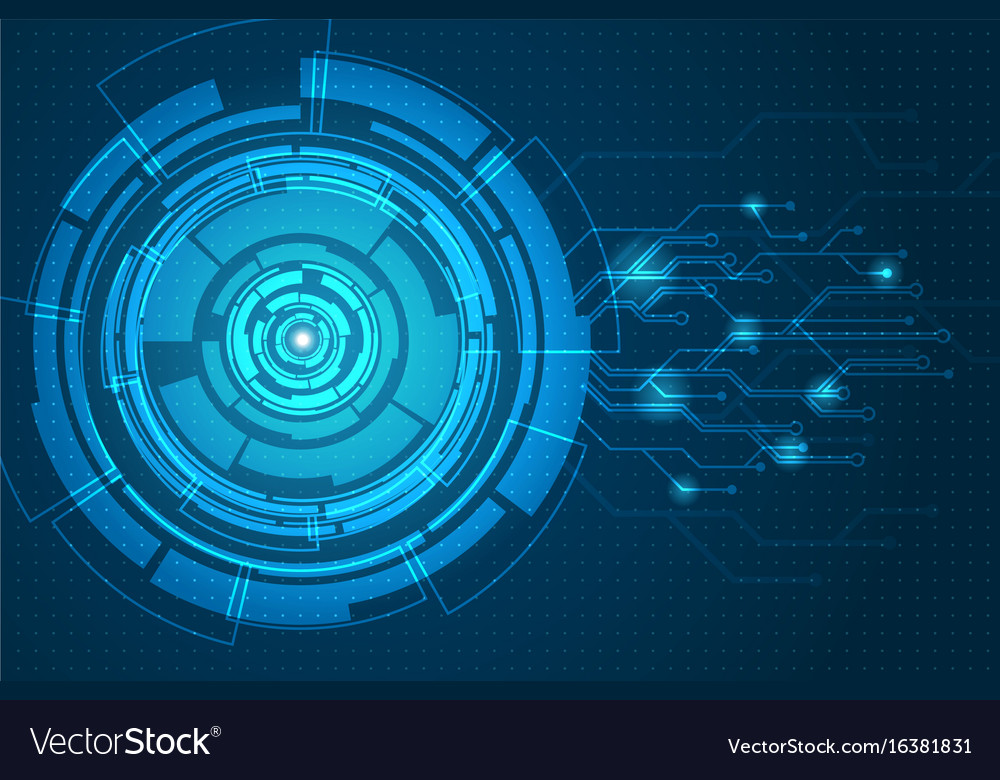 Abstract futuristic circuit board background Vector Image - circuit design background