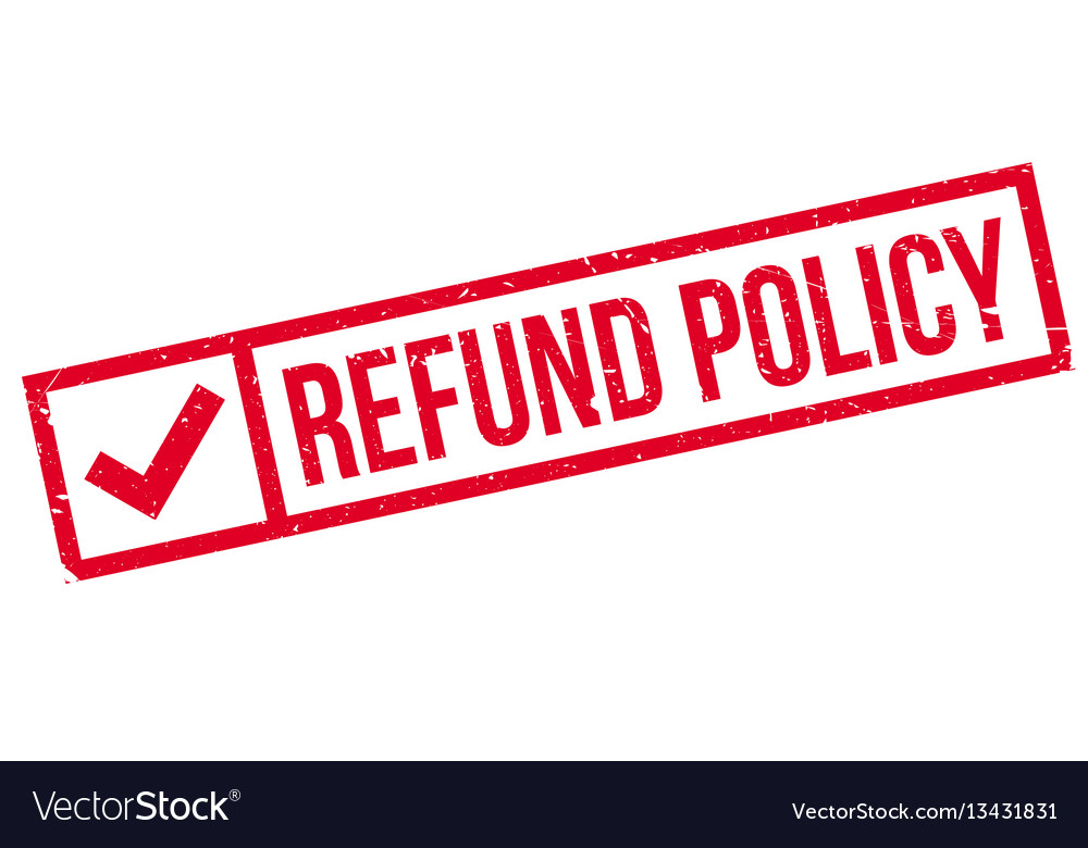 Refund policy rubber stamp Royalty Free Vector Image