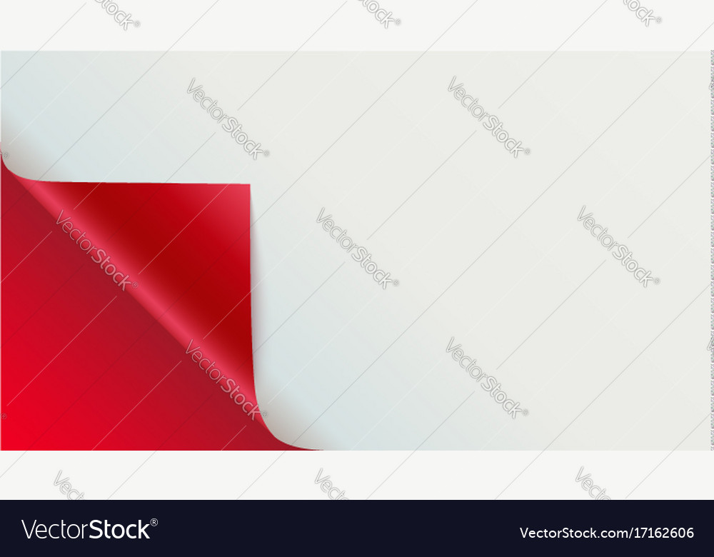 Page curl with shadow on blank sheet of paper Vector Image - blank sheet of paper with lines