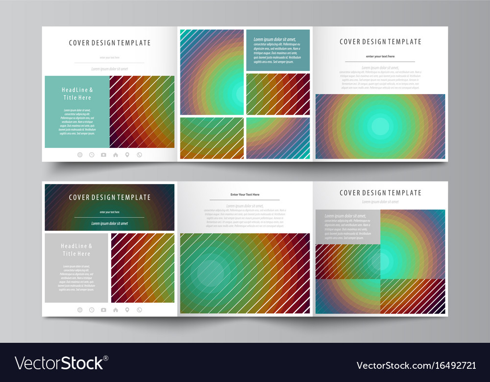 Business templates for tri fold square brochures Vector Image - tri brochures