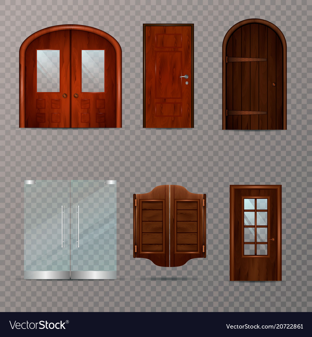 Entrance Doors Entrance Doors Transparent Set