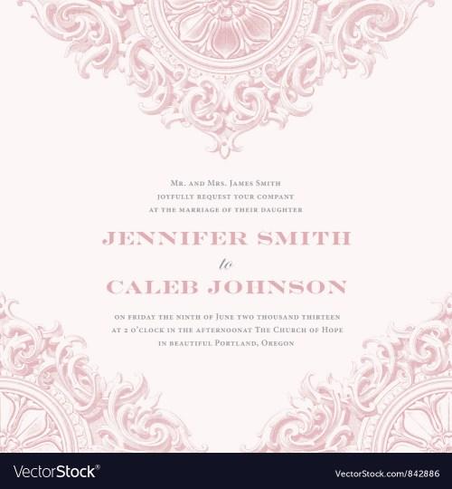 Medium Of Wedding Invitation Samples