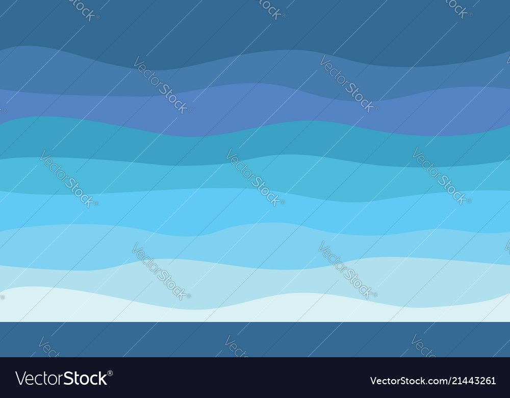 Nature abstract sea background hd blue waves Vector Image