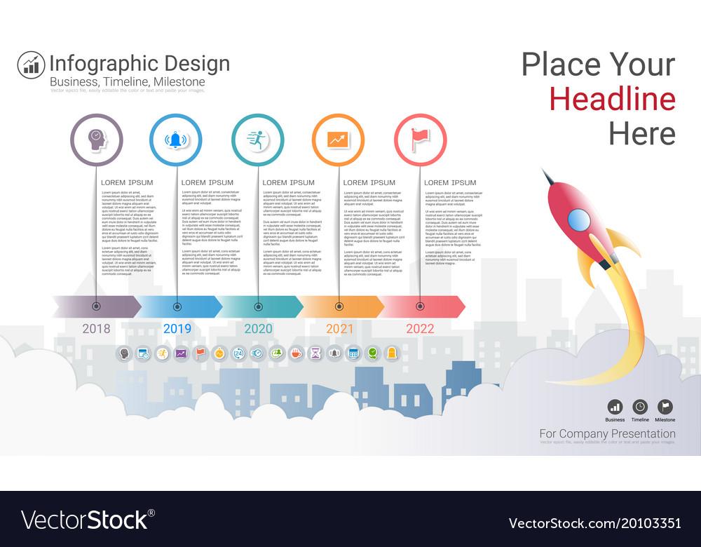 Business milestone timeline infographic template Vector Image - business timeline template
