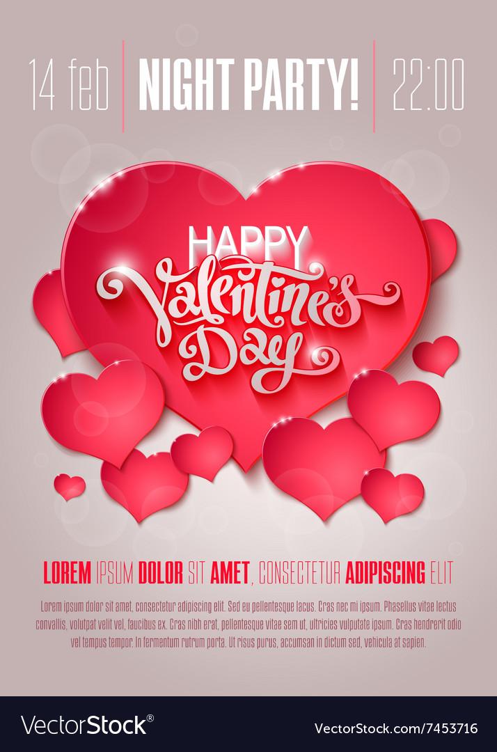 Valentine Day flyer Royalty Free Vector Image - VectorStock