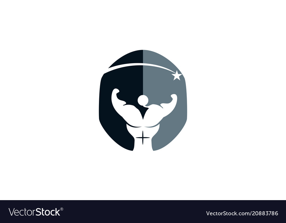 Gladiator fitness solutions Royalty Free Vector Image