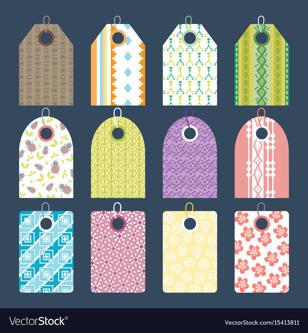 Stylish Clothes Stylish Clothes Price Tag With Art Pattern Sale Vector Image On Vectorstock