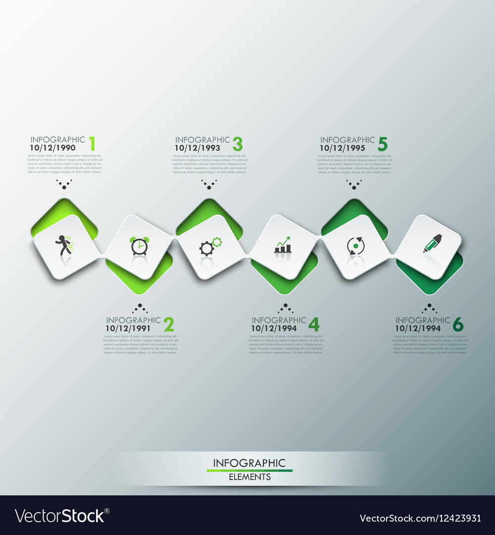 Timeline Design Infographic Design Template With Timeline And 6