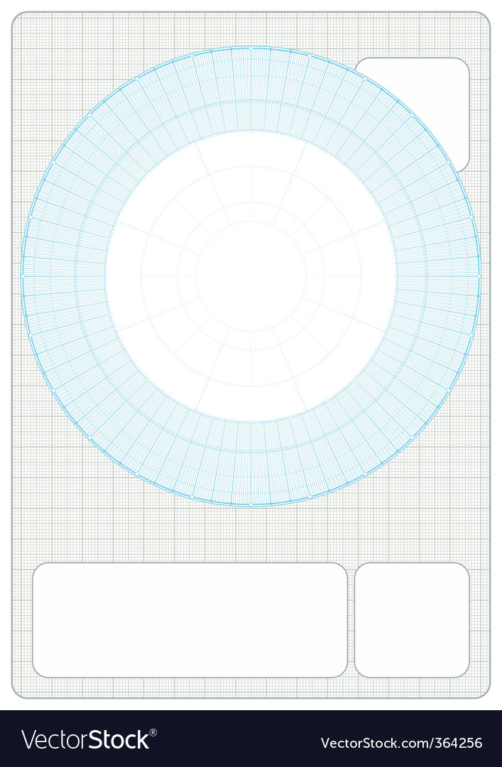 Millimeter Grid with drafting vector image on VectorStock