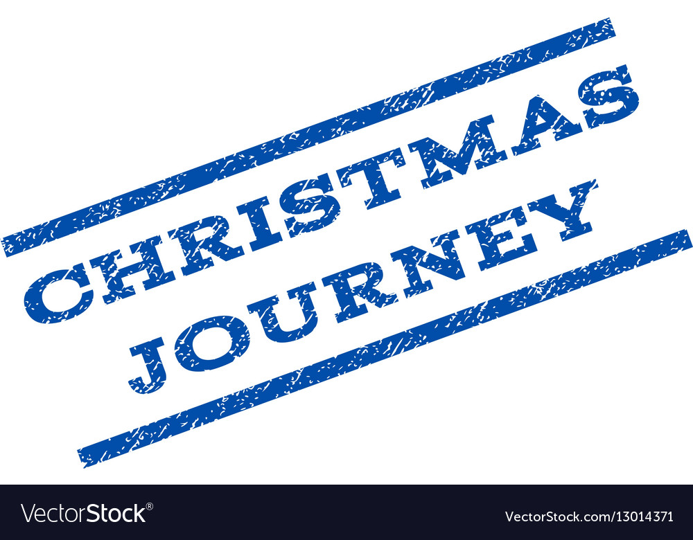 Christmas Journey Watermark Stamp Royalty Free Vector Image - watermark christmas
