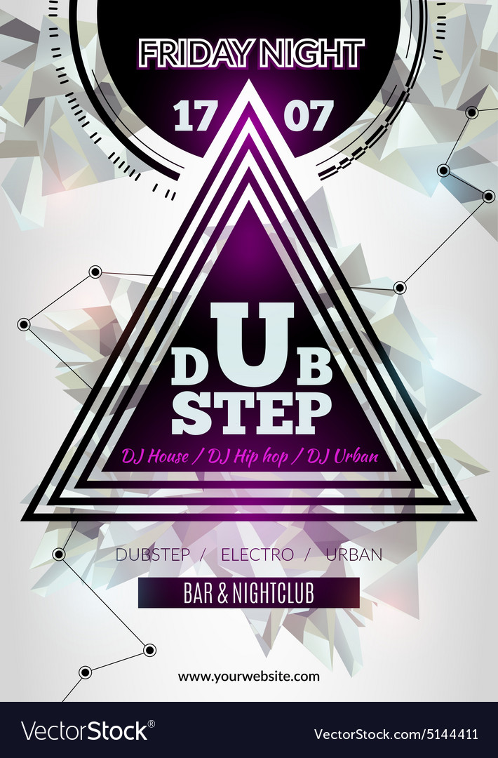 Night club flyer template Royalty Free Vector Image