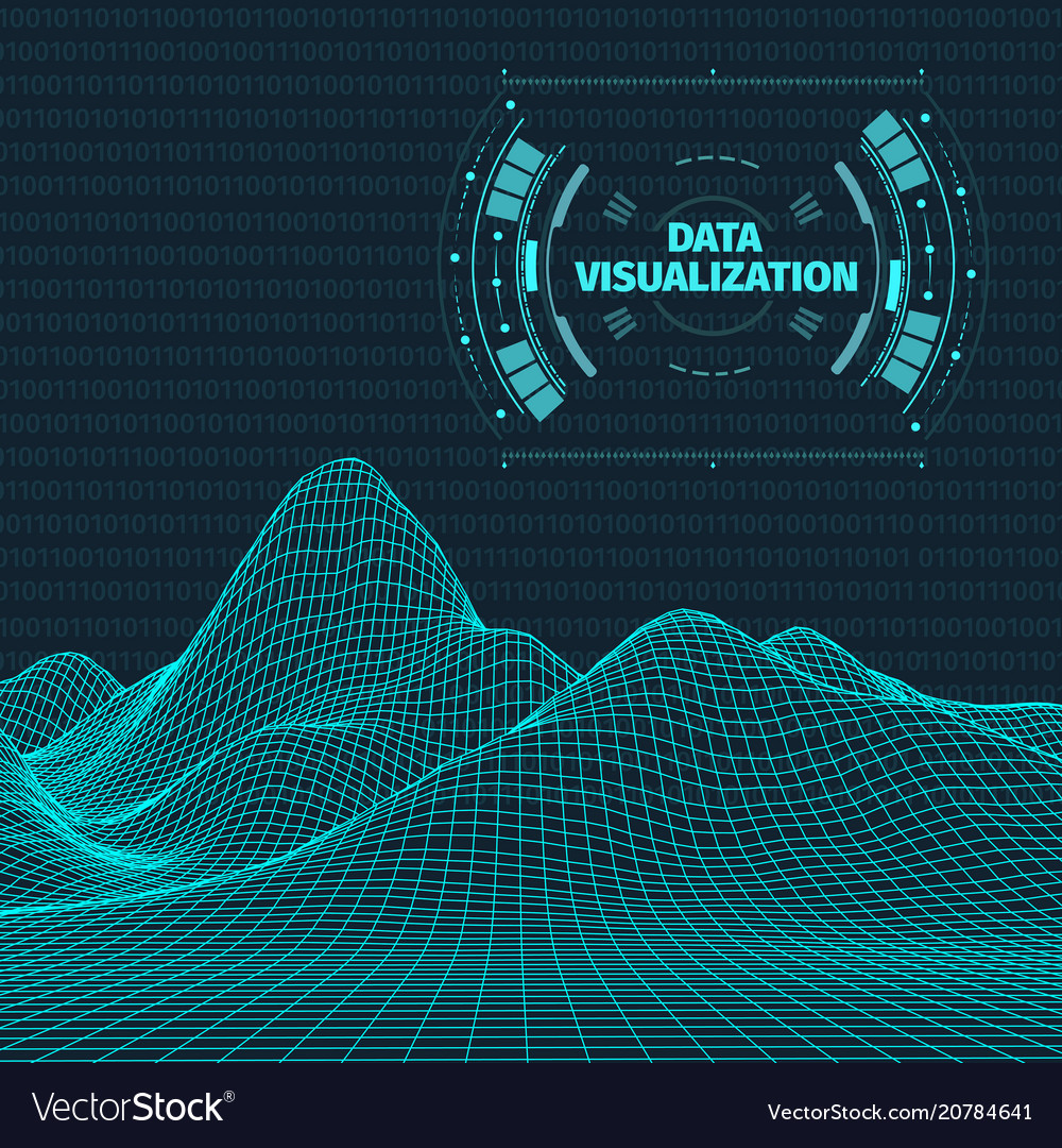 Futuristik Design Data Visualization Background Futuristic Design