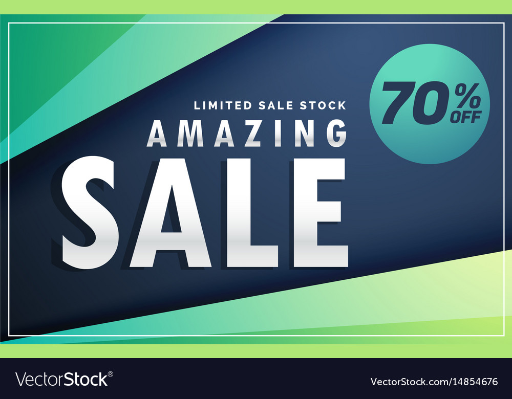 Amazing sale banner discount voucher design Vector Image - discount voucher design