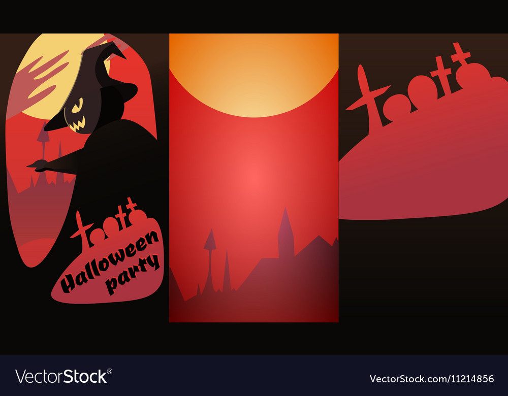 Design invitations to the Halloween party Vector Image