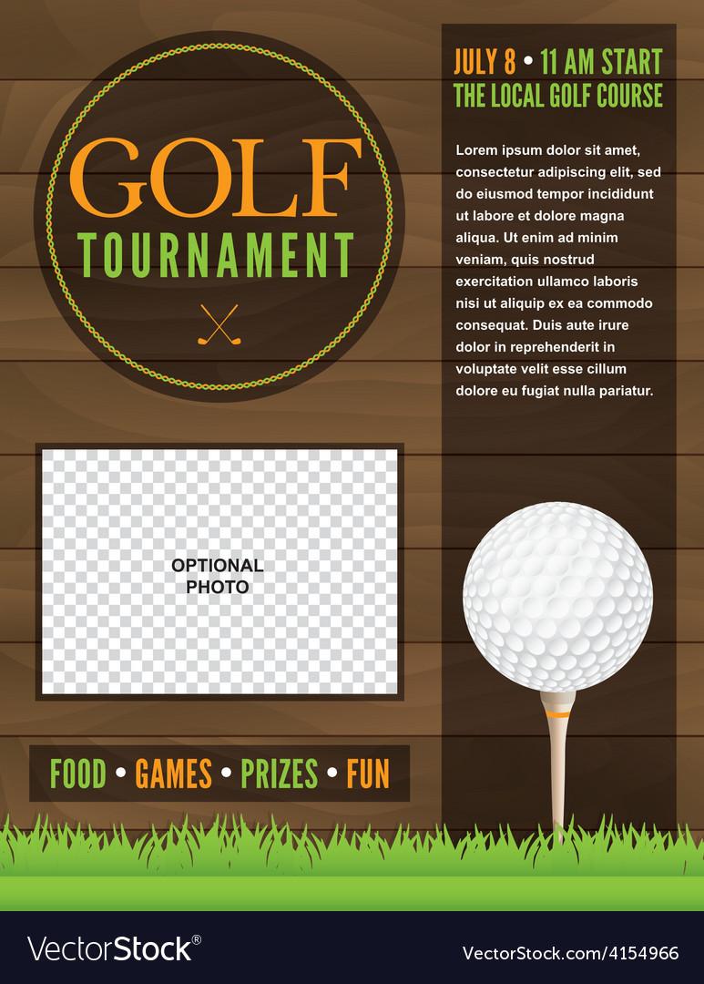 free golf tournament flyer template