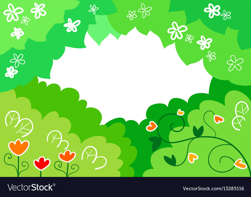 Cartoon spring background Royalty Free Vector Image