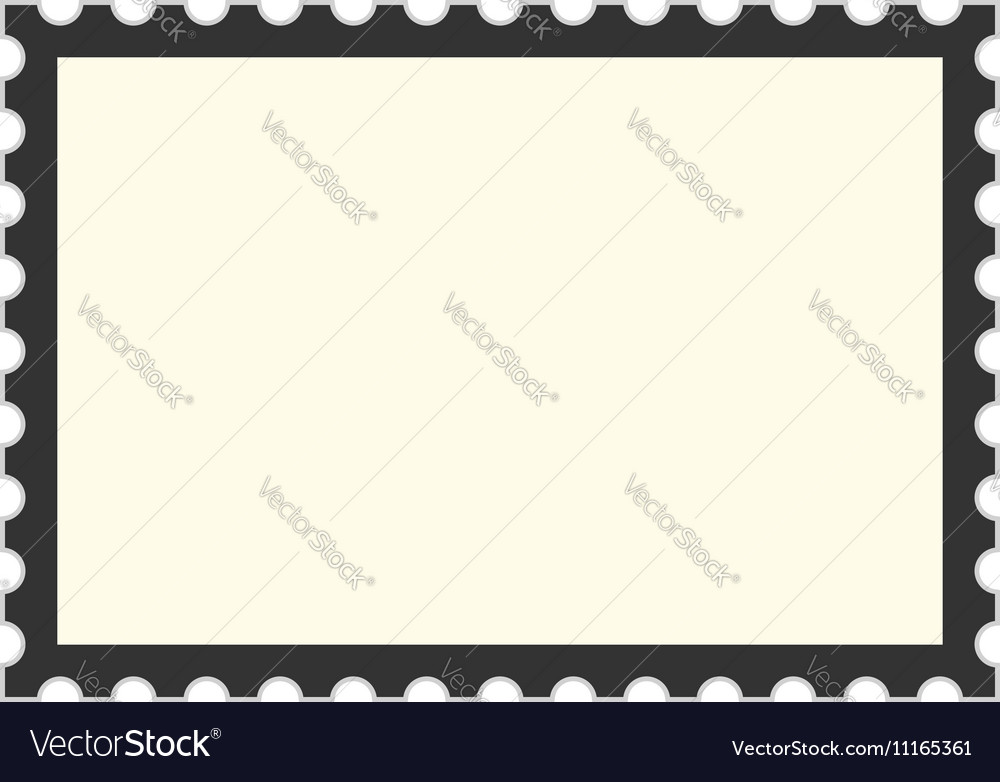 Black postage stamp template Royalty Free Vector Image - stamp template