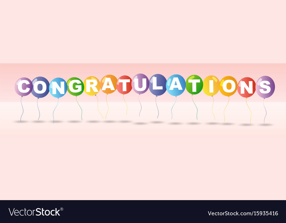 Congratulations card template with colorful Vector Image