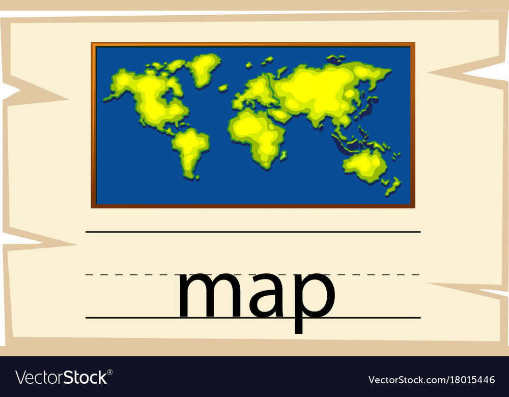 Wordcard template for word map Royalty Free Vector Image