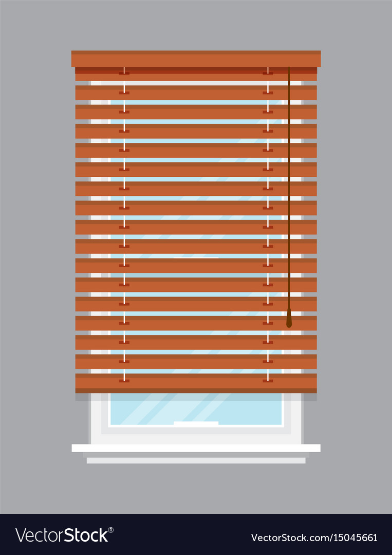 Jalousien Roller Window With Brown Roller Blind Isolated