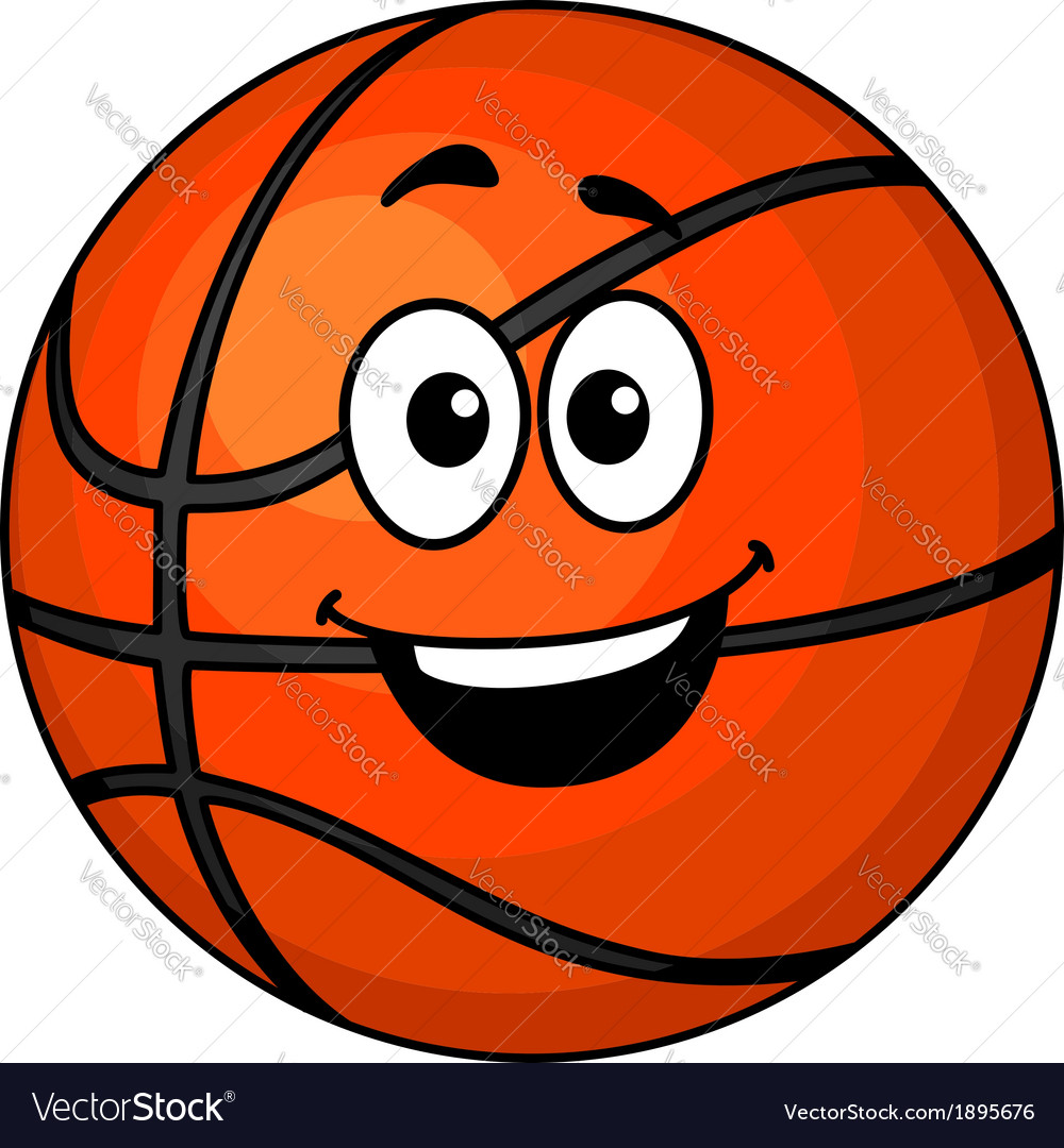 Basketball Ball Cartoon Happy Basketball Ball Vector Image On Vectorstock