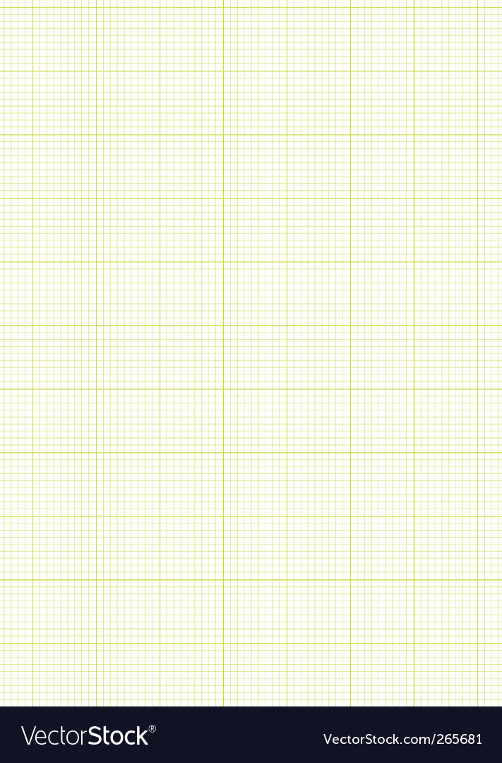 Graph paper a4 sheet green Royalty Free Vector Image - graph paper