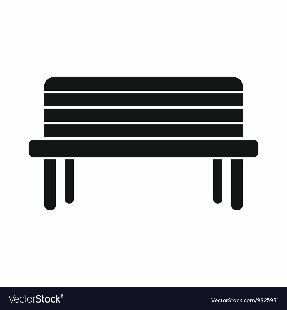 Black Bench Street Bench Icon Simple Style