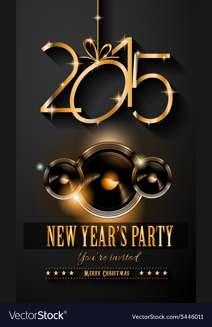 2015 New Years Party Flyer design for nigh clubs Vector Image - new years party flyer