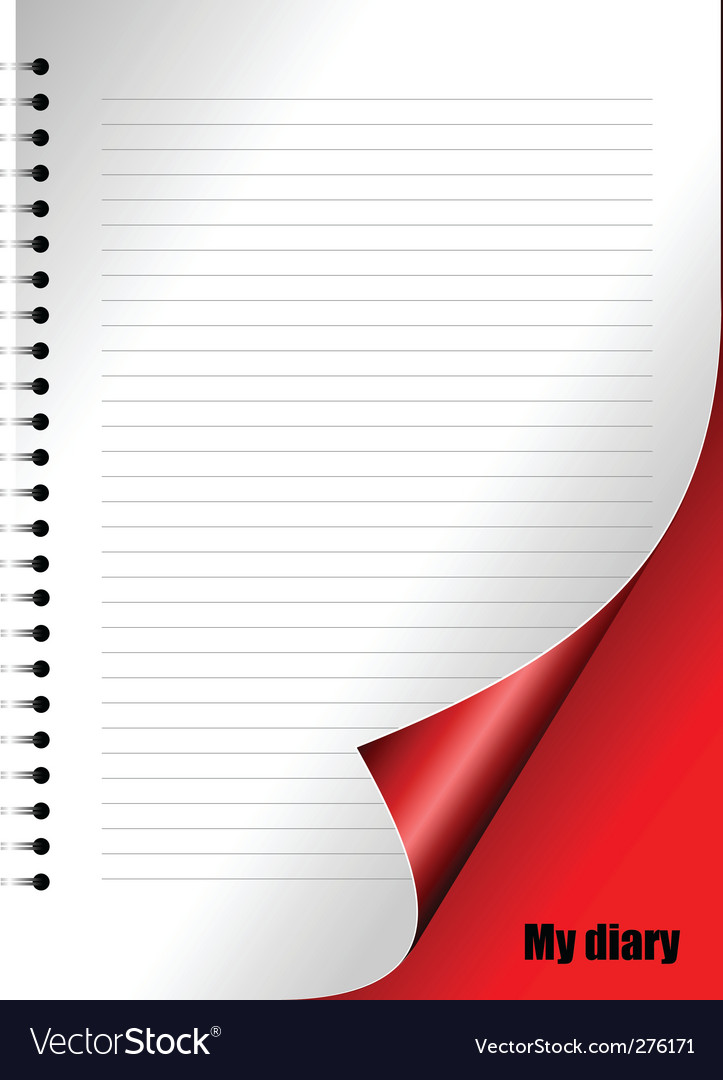 Diary page Royalty Free Vector Image - VectorStock - diary design