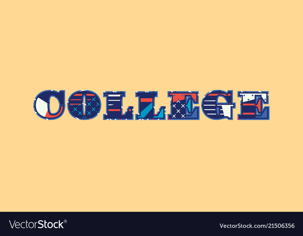 College concept word art Royalty Free Vector Image