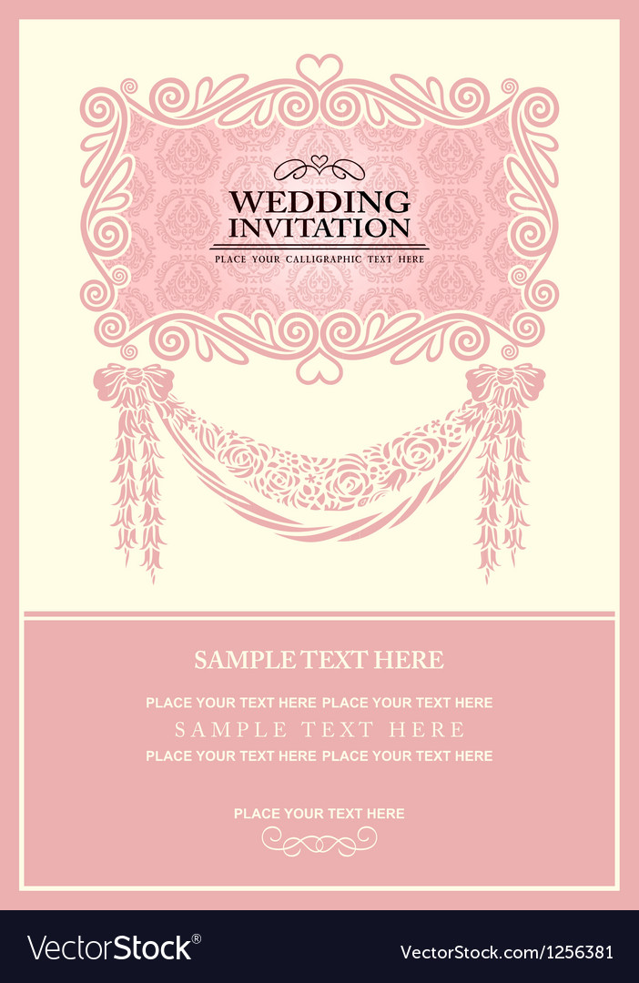 Vintage background wedding invitation Royalty Free Vector