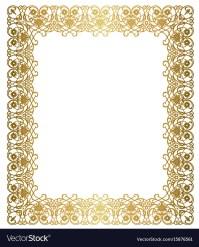 Elegant gold frame Royalty Free Vector Image - VectorStock