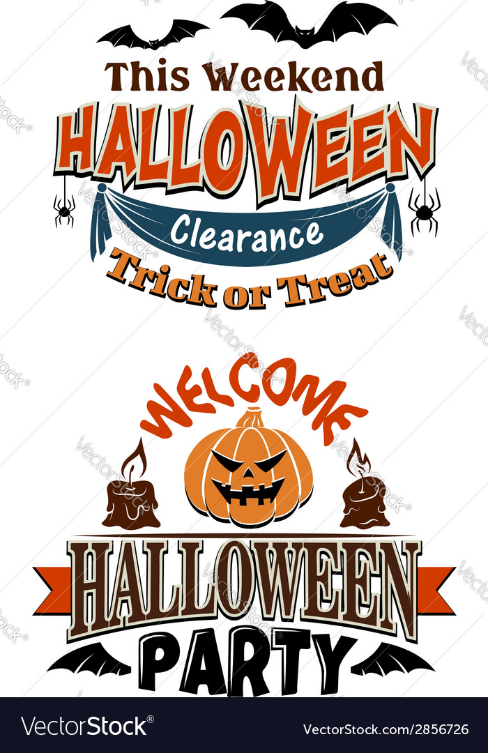 Halloween costume party invitation Royalty Free Vector Image
