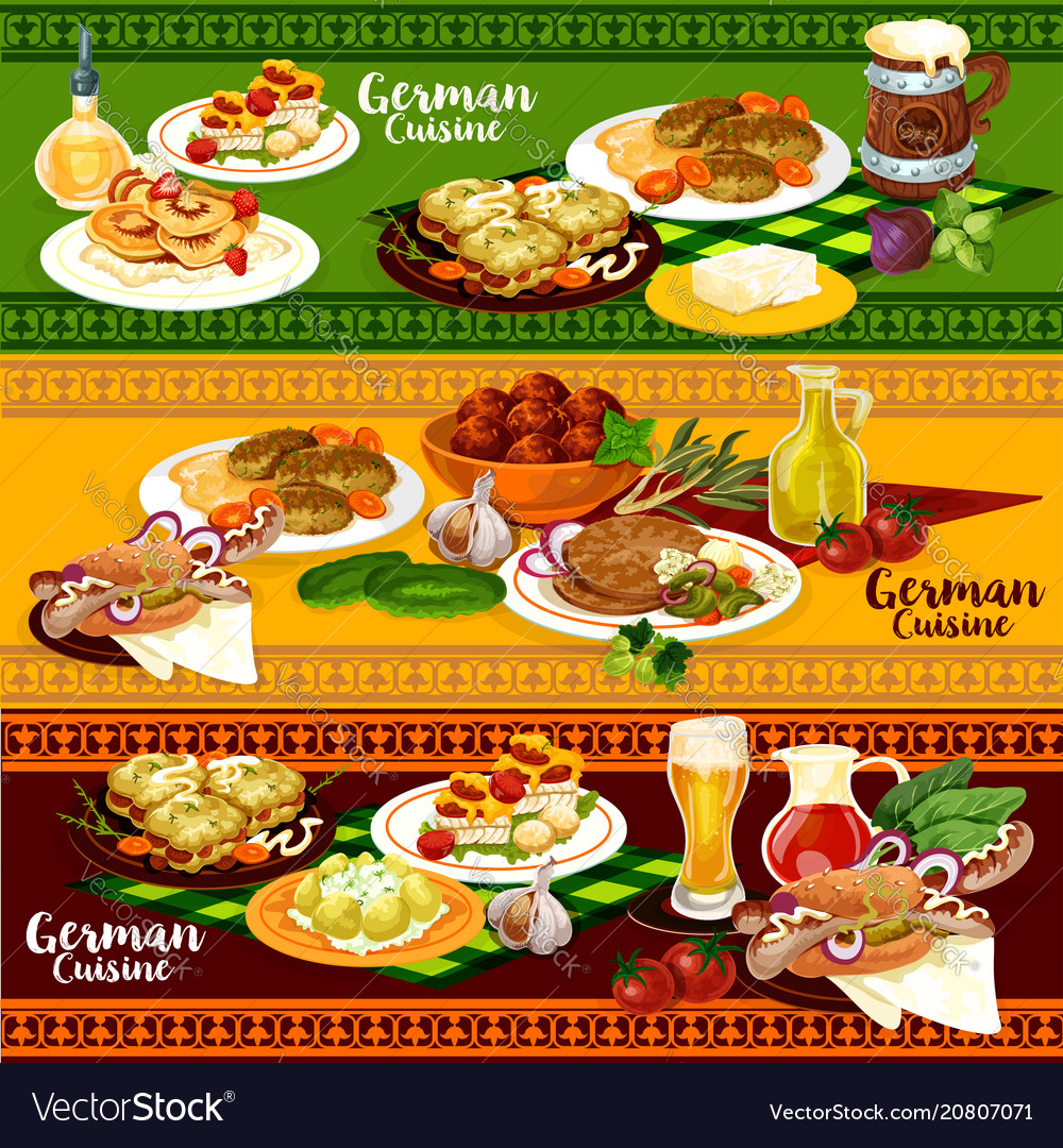 Schnitzel Restaurant German Cuisine Restaurant Banner For Oktoberfest