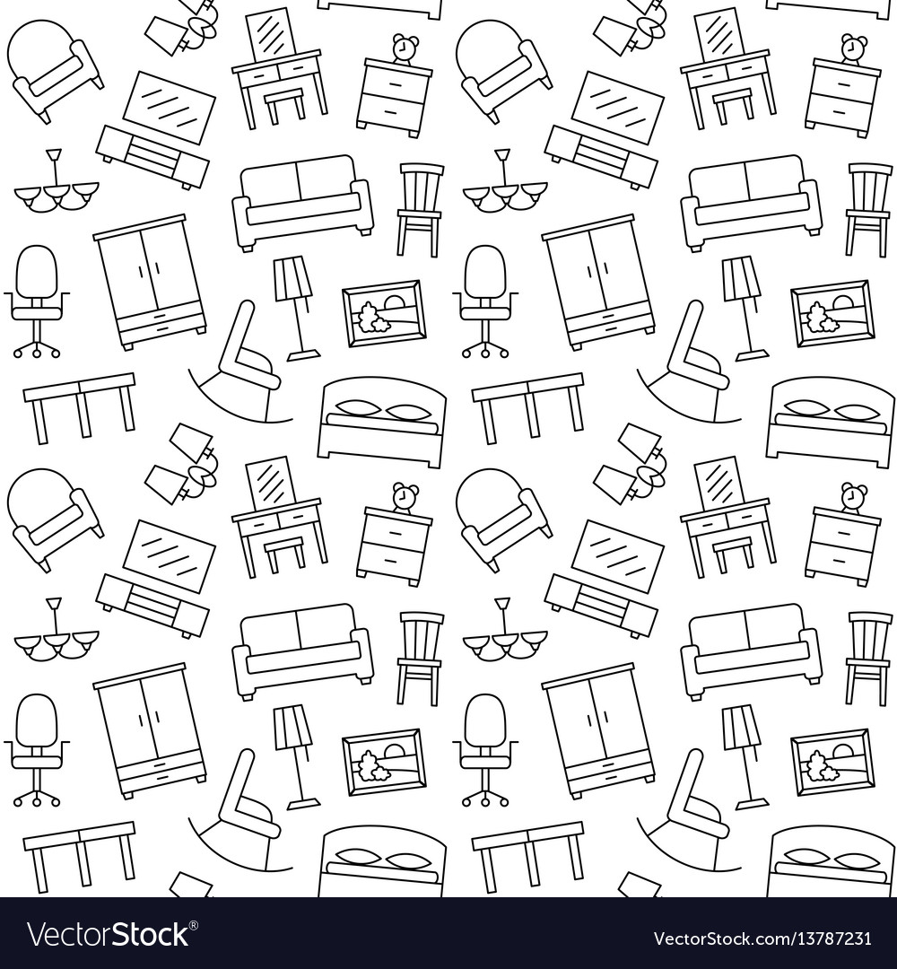 Sofa Texture Vector Furniture Seamless Pattern Background