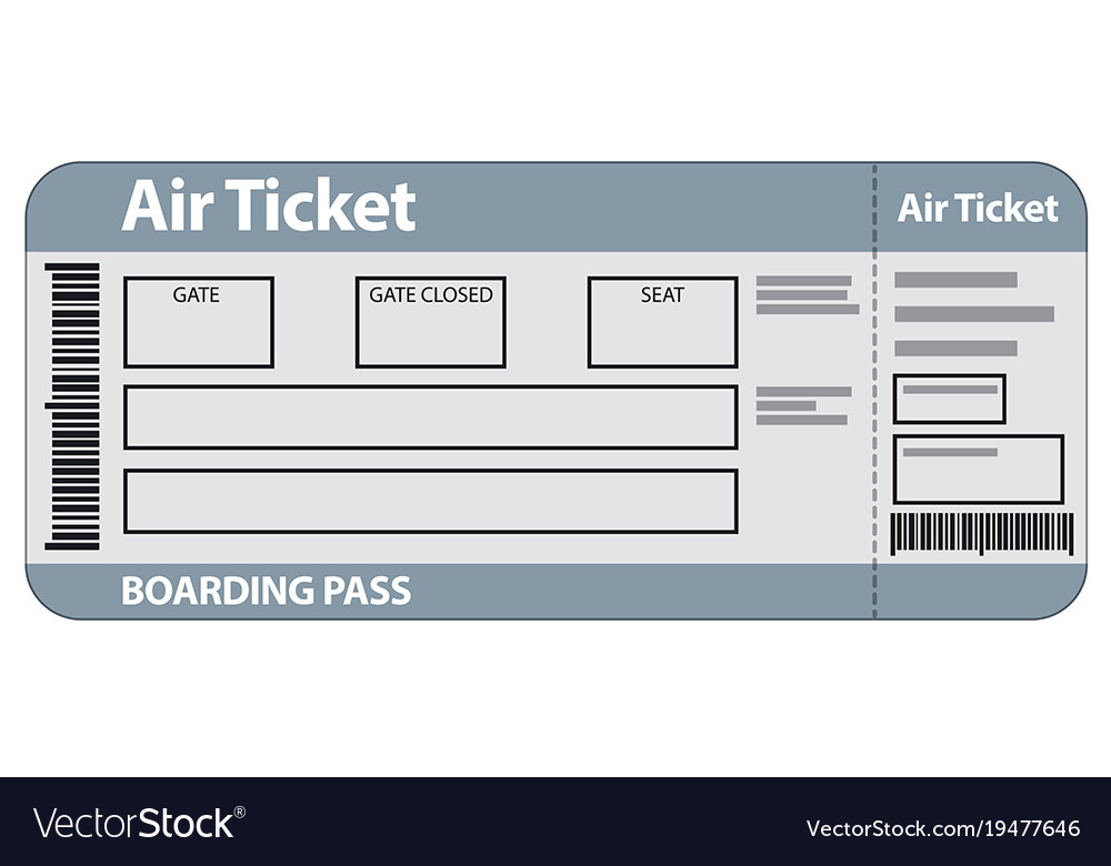 Air ticket template Royalty Free Vector Image - VectorStock