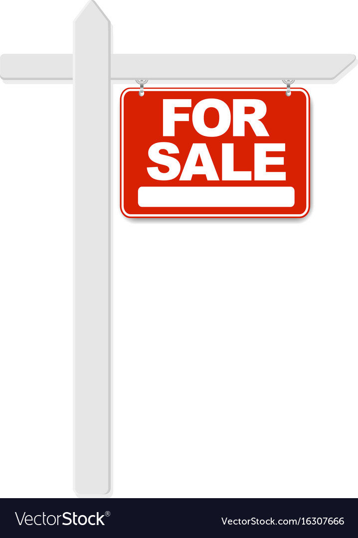 For sale sign Royalty Free Vector Image - VectorStock - forsale sign