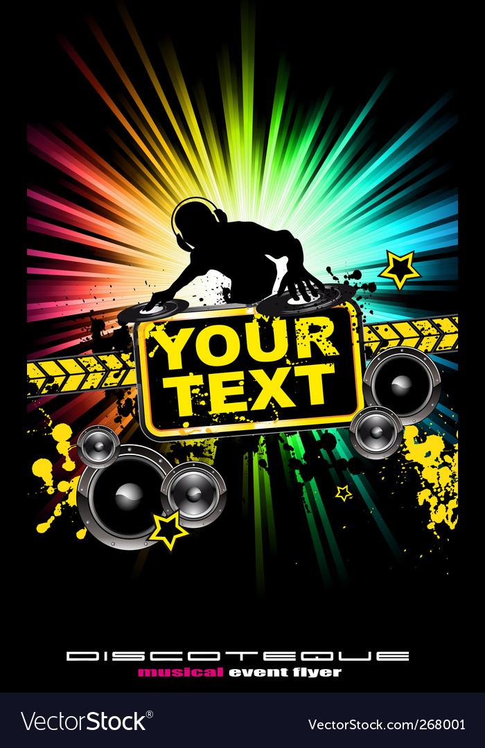 Dj music flyer Royalty Free Vector Image - VectorStock