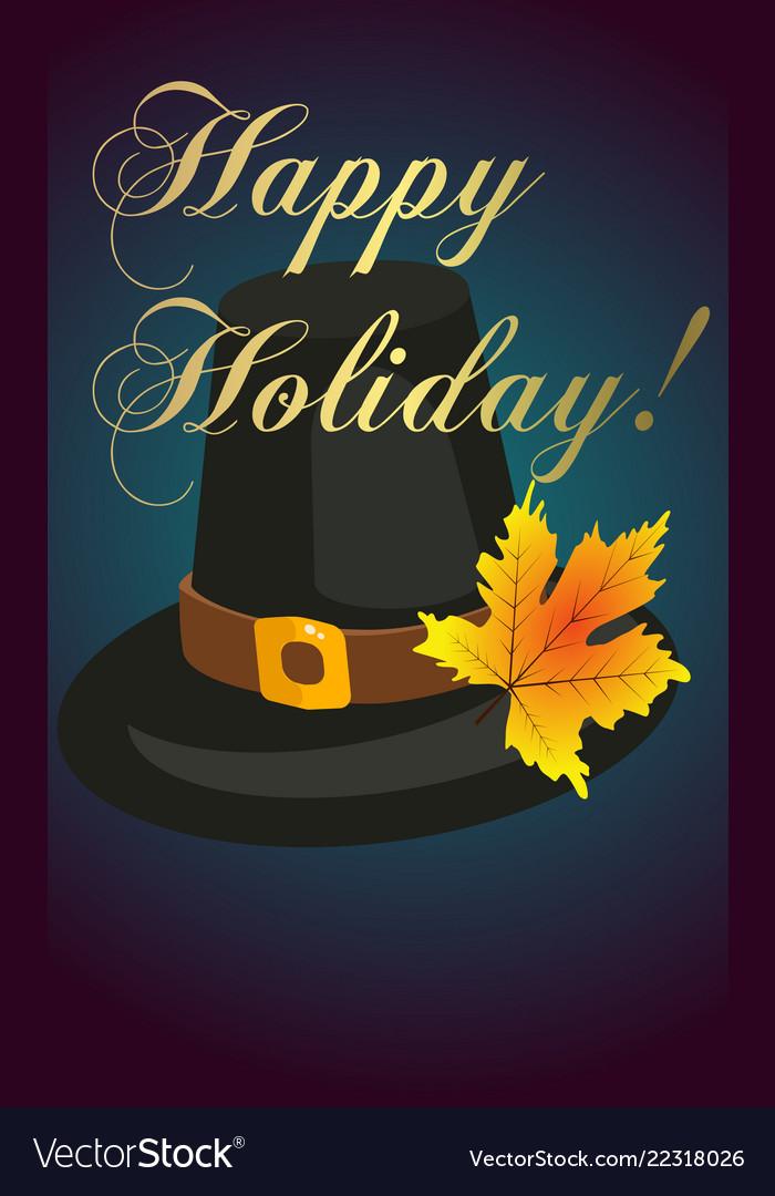 Happy thanksgiving card celebration banner design Vector Image