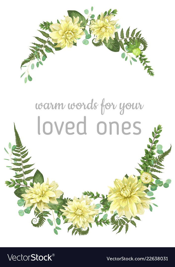 Floral background beautiful wedding invitation Vector Image