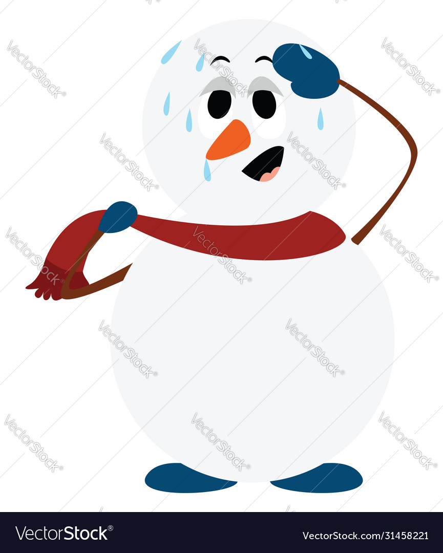 Sad Snowman Vector Images 61