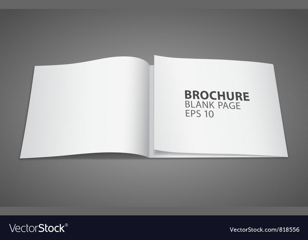 Brochure blank page Royalty Free Vector Image - VectorStock